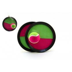 Lambáda/Catch ball hra s míčkem na suchý zip 19cm v síťce