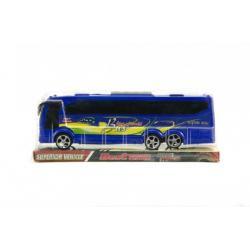 Autobus plast 25cm na setrvačník asst 2 barvy v krabičce