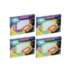 Magnetická tabulka kreslící plast 33x24cm s doplňky asst 4 barvy v krabici
