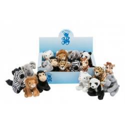 Zvířátko zoo plyš 12cm asst 9 druhů 18ks v boxu