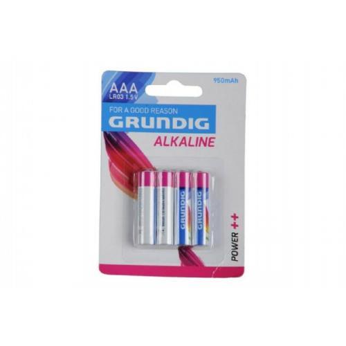 Baterie Grundig LR03/AAA 1,5 V alkaline 4ks na kartě