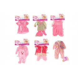 Oblečky/Šaty pro panenky/miminka velikosti 30-40cm 6 druhů v sáčku 25x40cm