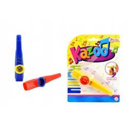 Kazoo plast 12cm asst 3 barvy na kartě