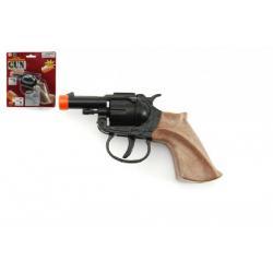 Pistole kapslovka kov 14cm 8 ran na kartě
