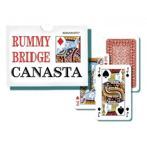 Canasta společenská hra - karty 108ks v papírové krabičce 12x9x2cm