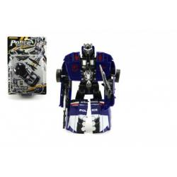 Transformer auto/robot policie s doplňky 16cm asst 2 barvy na kartě