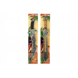 Meč pirát plast 58cm asst 2 druhy na kartě