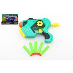 Pistole na pěnové náboje 5ks plast 21cm asst 2 barvy v krabici