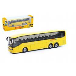 Autobus RegioJet kov/plast 18,5cm na zpětné natažení v krabičce
