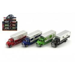 Kamion plast 14cm asst mix barev v krabičce 24ks v boxu
