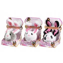Bunnies Králíček s magnetky uši 14cm, tělo 8cm asst 8 barev v krabičce