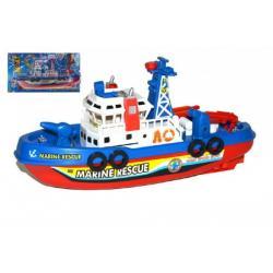 Loď/člun záchranářská plast 28cm na baterie na kartě
