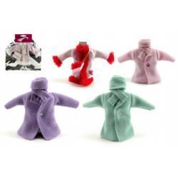 Šaty/Oblečky kabátek na panenky asst na kartě 21x30cm