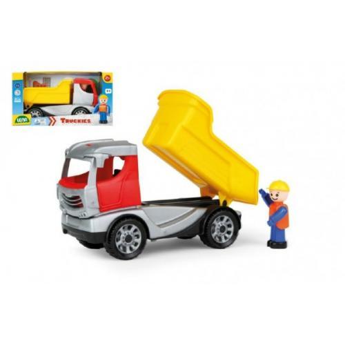 Auto Truckies sklápěč plast 22cm s figurkou v krabici 24m+