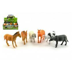 Zvířátka farma domácí plast 13cm asst 12 ks v boxu