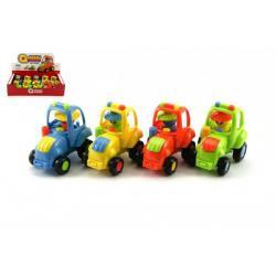 Traktor plast 8cm na setrvačník asst 12ks v boxu