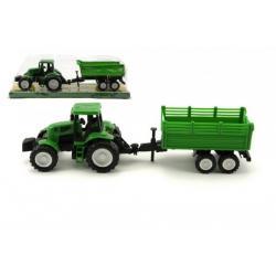Traktor s vlekem plast 26 cm asst 2 druhy na setrvačník