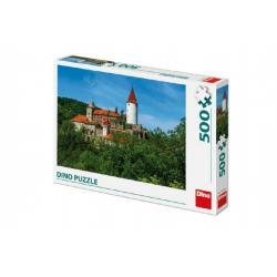 Puzzle hrad Křivoklát 47x33cm 500 dílků v krabici 33,5x23x3,5cm