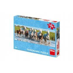 Puzzle běžící koně panoramic 66x23cm 150 dílků v krabici 27x19x4cm