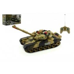 Tank RC T-80 plast 25cm s dobíjecím packem USB+adaptér na baterie 2 druhy v krabici