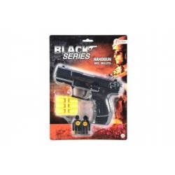Pistole špuntovka plast 15cm na plastové náboje na kartě