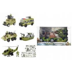 Vojenská sada plast asst 6 druhů v krabici 38x22cm