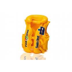 Vesta nafukovací žlutá 3 komory 19x18cm od 3-6 let