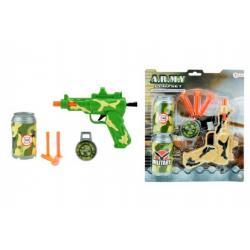Pistole s přísavkami + doplňky plast 18cm asst 2 barvy na kartě