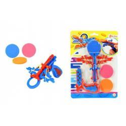 Vystřelovač disků plast/pěna 13cm na kartě 14x20 cm