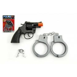 Pistole na kapsle 8 ran s pouty plast 15cm na kartě