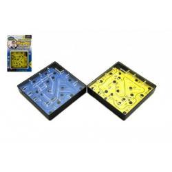 Bludiště/Labyrint hlavolam plast 10cm na kartě
