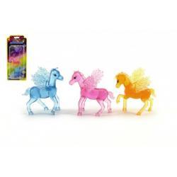 Kůň s křídly 3 ks plast 7cm na kartě