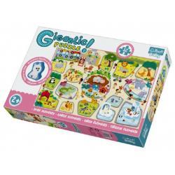 Puzzle zvířátka Gigantic ZOO 12ks v krabici 40x27x6cm 2+