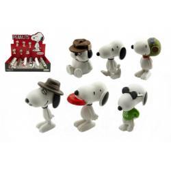 Snoopy figurka plast 5cm 6 druhů 32 ks v boxu