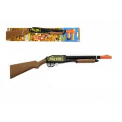 Pistole/puška špuntovka s provázkem plast 53cm na kartě