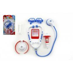 Sada doktor se stetoskopem plast na kartě 19x32x3,5cm