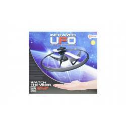 UFO létající prstenec s USB kabelem plast na baterie svítící asst 4 barvy v krabici 22x20x8cm