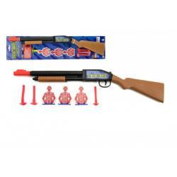 Pistole/Puška na přísavky plast 49cm na kartě