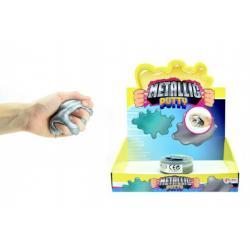 Hmota/modelína inteligentní metalická 8cm v plastové krabičce 18ks v boxu