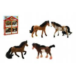 Kůň fliška 4ks 7cm asst 3 barvy v krabici