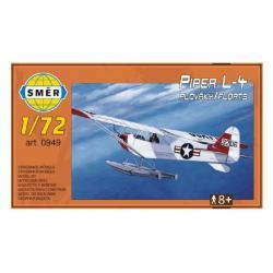 Model Piper L-4 plováky 1:72 14,7x9,3cm v krabici 25x14,5x4,5cm