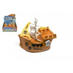 Loď/Lodička do vany na natažení plast 14cm 6ks v boxu