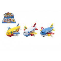 Letadlo na klíček plast 10cm asst mix barev 12ks v boxu