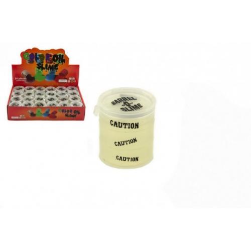 Sliz - hmota 30g svítící 4cm v barelu 24ks v boxu