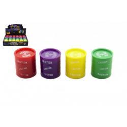 Sliz - hmota 30g v barelu 4cm asst 4 barvy 24ks v boxu