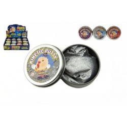 Hmota/modelína 40g inteligentní třpytivá glitter 6cm asst mix barev v plechové krabičce 24ks v boxu