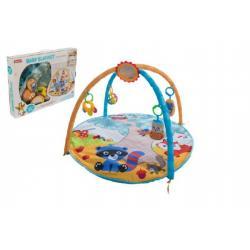 Hrazda pro děti s podložkou a chrastítky v krabici 61x46x8cm 0m+