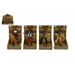 Figurka kovboj/indián plast 10cm asst mix druhů v krabičce 12ks v boxu