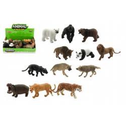 Zvířátka safari ZOO plast 10cm asst mix druhů 12ks v boxu