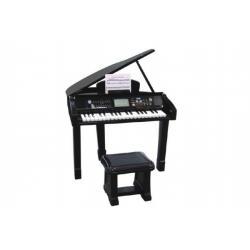 Piáno/klavír plast 56x72x44cm na baterie se zvukem v krabici